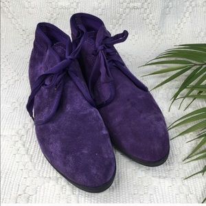Keds Shoes - Vintage Keds Purple Suede Chukka Ankle Booties